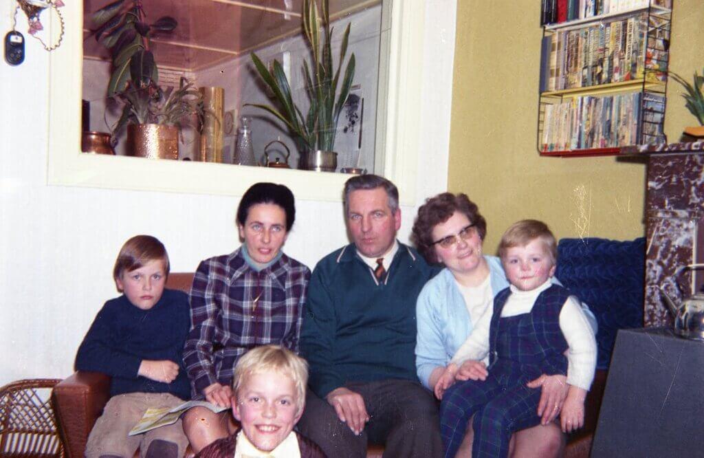 Tante Riet op bezoek (voorjaar 1972?)